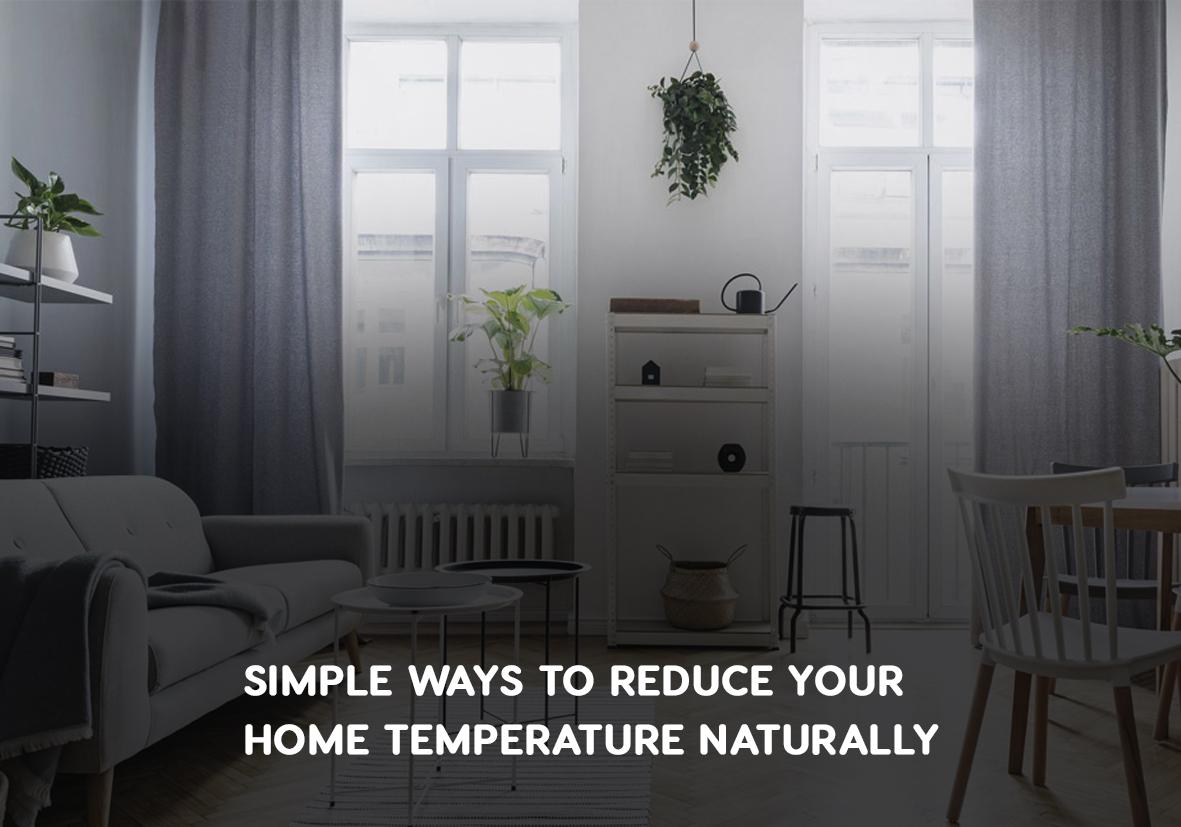 natural methods of temperature reduction